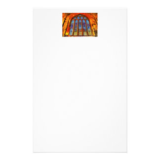 Stained Glass Van Gogh Stationery