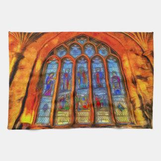 Stained Glass Van Gogh Tea Towel