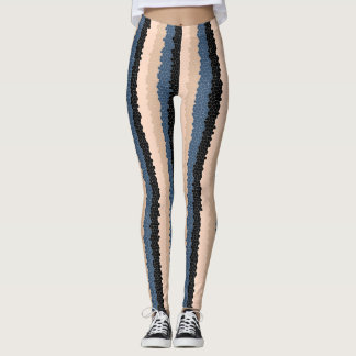 Stained Glass Vertical Stripe Leggings
