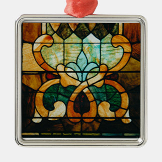 Stained Glass Vine Metal Ornament
