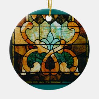 Stained Glass Vine, Round Round Ceramic Decoration