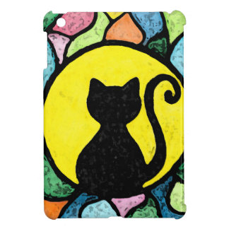 Stained Glass Watercolour Kitty iPad Mini case