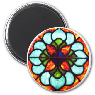 Stained Glass Window 6 Cm Round Magnet