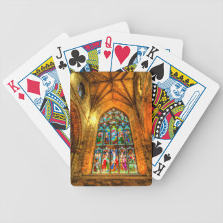 Stained Glass Window Bicycle Playing Cards