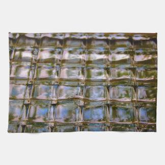 Stained Glass Window Blocks Tea Towel