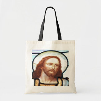 Stained Glass Window Christ Tote Bag