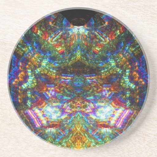 Stained Glass Window Beverage Coasters