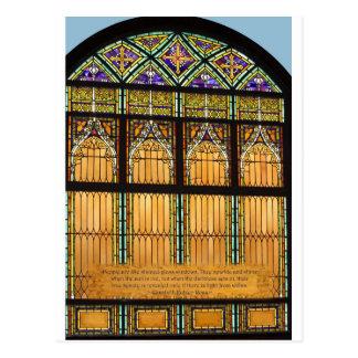 stained glass window.jpg postcard