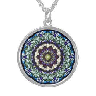 Stained Glass Window Kaleidoscope10 Necklace