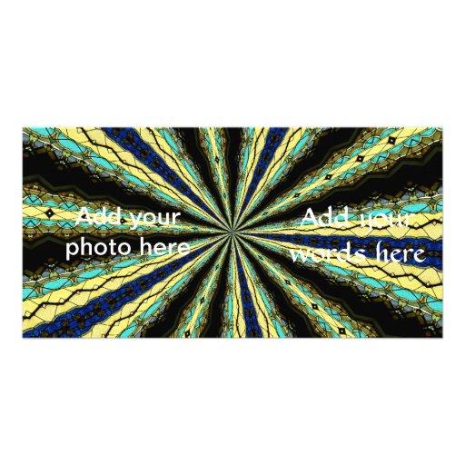 Stained Glass Window Kaleidoscope 10 Personalized Photo Card
