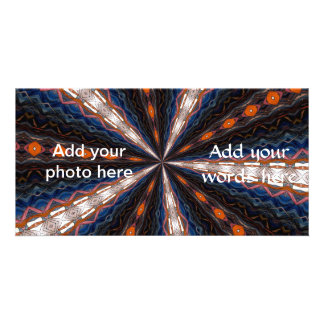 Stained Glass Window Kaleidoscope 15 Picture Card