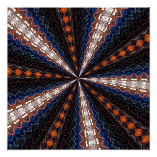 Stained Glass Window Kaleidoscope 15 Posters