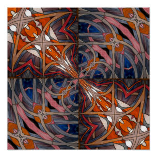 Stained Glass Window Kaleidoscope 18 Posters