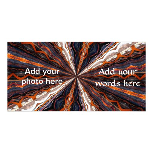 Stained Glass Window Kaleidoscope 19 Picture Card