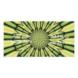 Stained Glass Window Kaleidoscope 20 Custom Photo Card