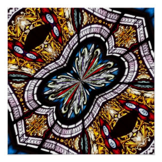 Stained Glass Window Kaleidoscope 22 Posters
