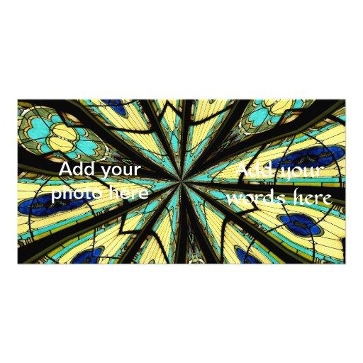 Stained Glass Window Kaleidoscope 23 Photo Card Template