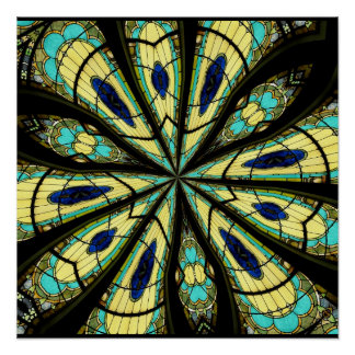 Stained Glass Window Kaleidoscope 23 Posters