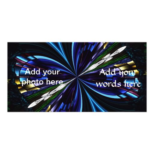 Stained Glass Window Kaleidoscope 9 Picture Card