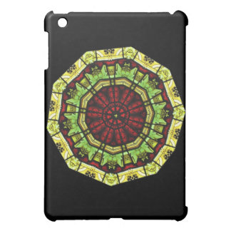 Stained Glass Window Mandala iPad Case