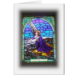 Stained Glass Window Notecard