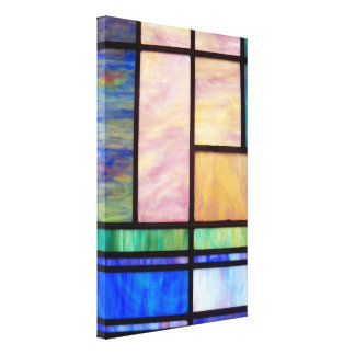 Stained Glass Window Panel Wrapped Canvas Artwork