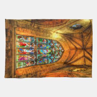 Stained Glass Window Tea Towel