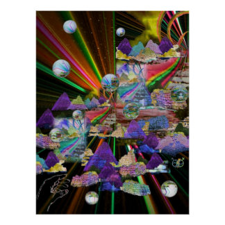 Stained Glass Windows 3-D Poster