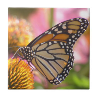 Stained Glass Wings Small Square Tile