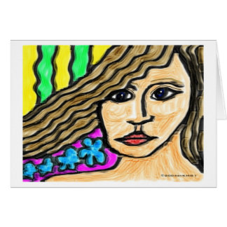 Stained Glass Woman Greeting Cards