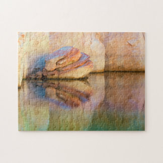 Stained Sandstone Wall | Glen Canyon, UT Jigsaw Puzzle