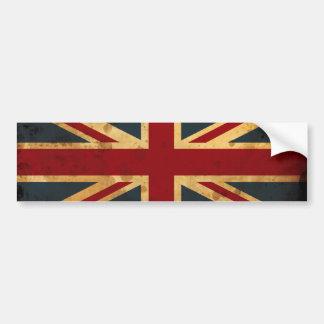Stained Union Jack UK Flag Bumper Sticker
