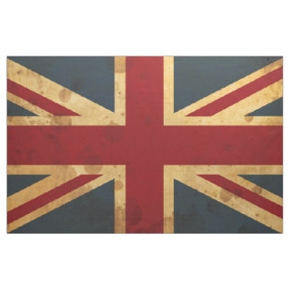 Stained Union Jack UK Flag Fabric