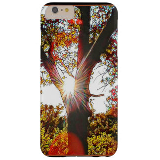 Stainglass Sunrise Through Tree Barely There iPhone 6 Plus Case