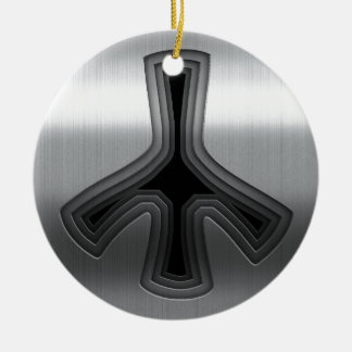 Stainless Round Ceramic Decoration