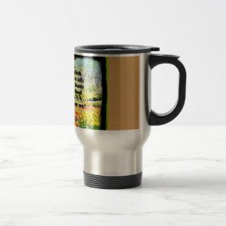 Stainless steel, 14 oz covered travel mug