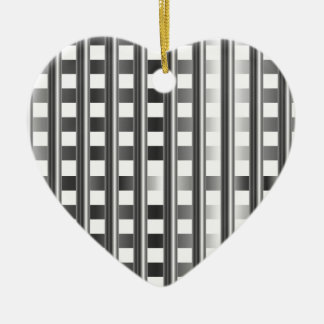 stainless steel background ceramic heart decoration