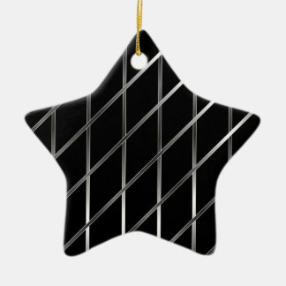 stainless steel background ceramic star decoration