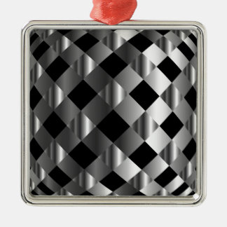 stainless steel background Silver-Colored square decoration