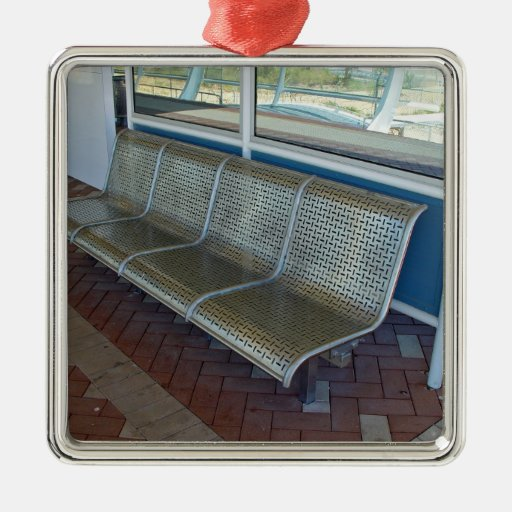 Stainless steel bench christmas tree ornament