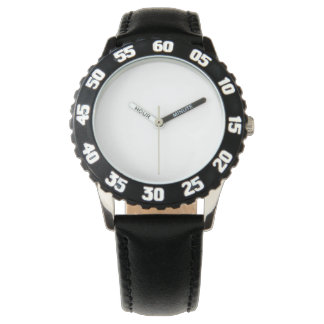 Stainless Steel Black Watch, Adjustable Bezel Wrist Watches