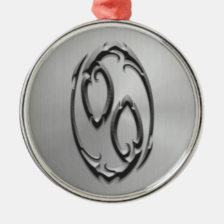 Stainless Steel Cancer Symbol Silver-Colored Round Decoration