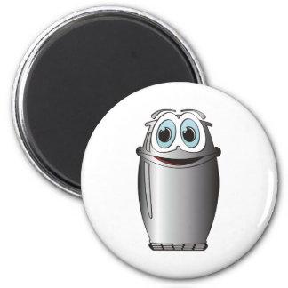 Stainless Steel Cartoon Refrigerator 6 Cm Round Magnet