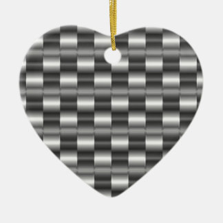 Stainless steel ceramic heart decoration