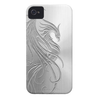 Stainless Steel Effect Phoenix Graphic iPhone 4 Case-Mate Case