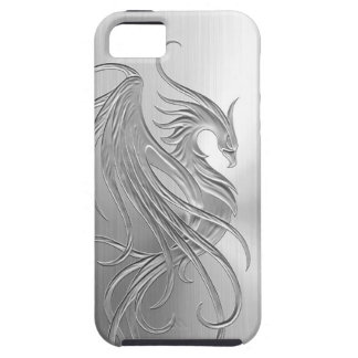Stainless Steel Effect Phoenix Graphic iPhone 5 Case