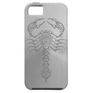 Stainless Steel Effect Tribal Scorpion iPhone 5 Covers