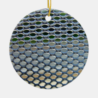 Stainless steel  grille christmas tree ornament
