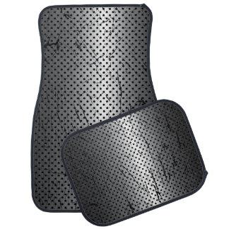 Stainless Steel Grunge Mesh Car Mat