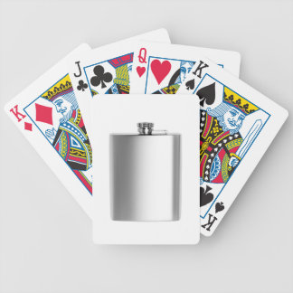 Stainless steel hip flask bicycle playing cards